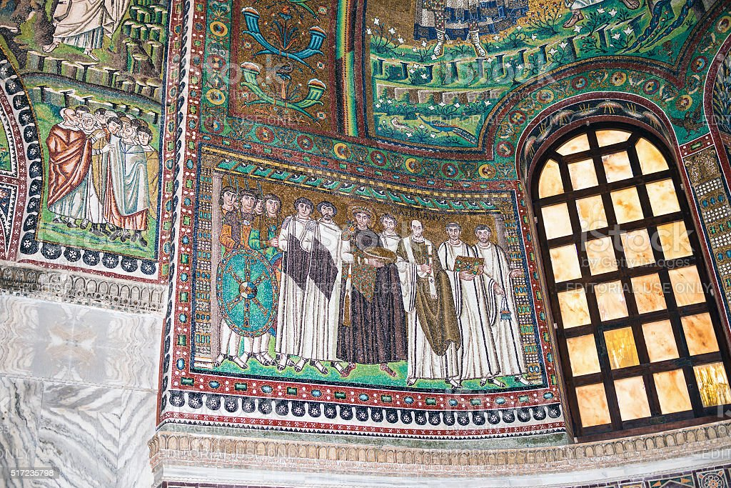 Mosaics from San Vitale, Ravenna stock photo