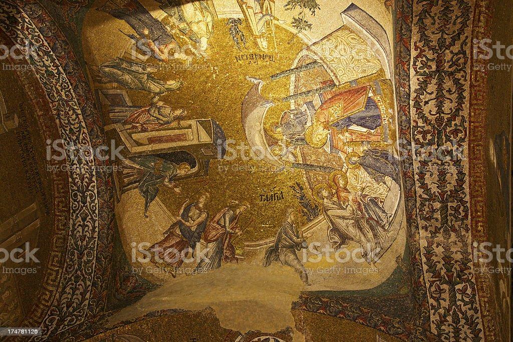 Mosaics in Chora Church (Kariye Museum). Istanbul. royalty-free stock photo