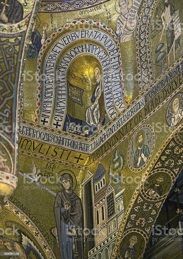Mosaics of Cappella Palantina. Palazzo dei Normanni. Palermo-Italy stock photo