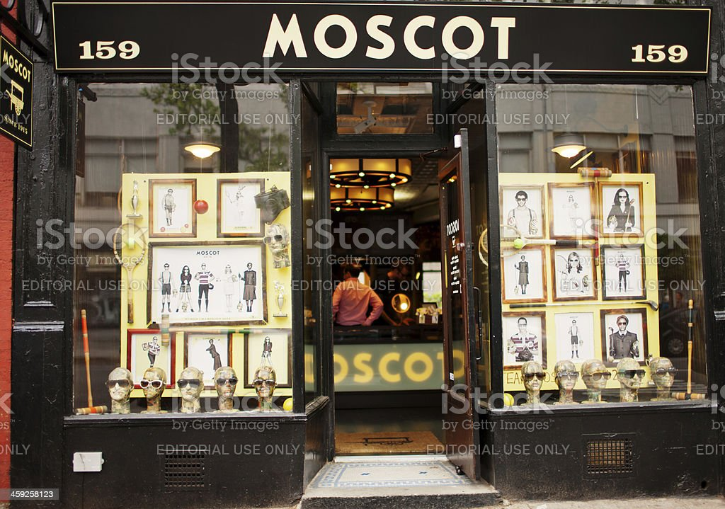 Moscot Store in New York, USA royalty-free stock photo