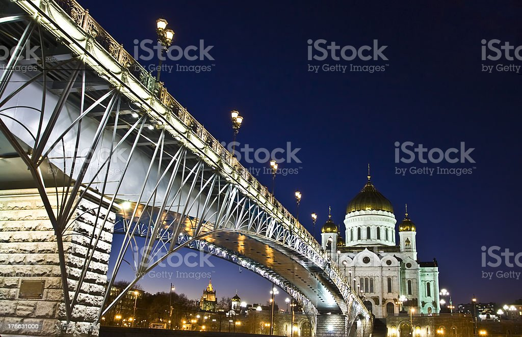 Moscow, cathedral of Jesus Christ Saviour royalty-free stock photo