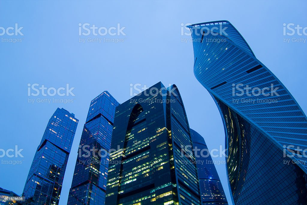 MIBC 'Moscow - city' business center in Moscow stock photo