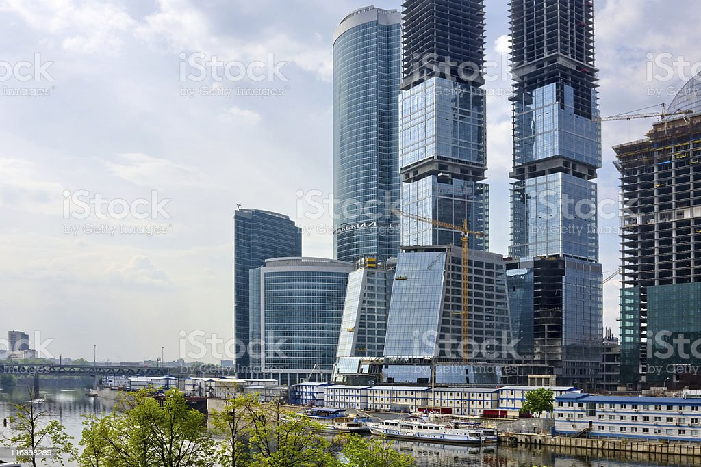 Moscow City complex under construction royalty-free stock photo