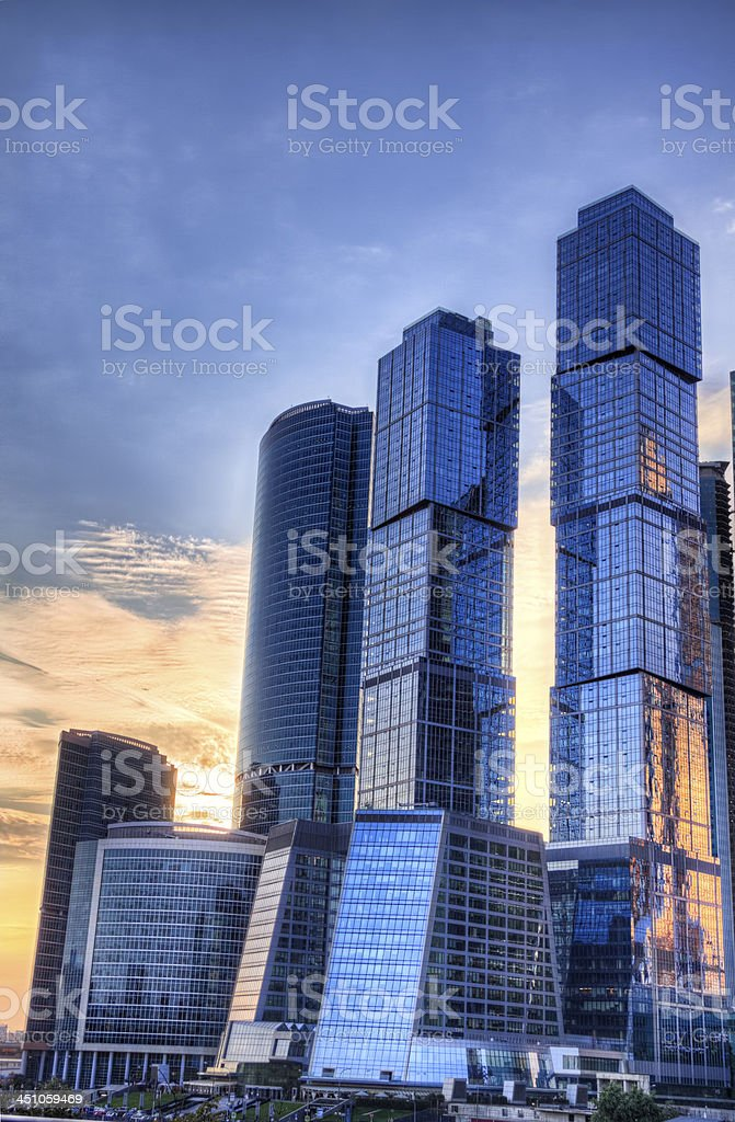 Moscow city hdr process stock photo