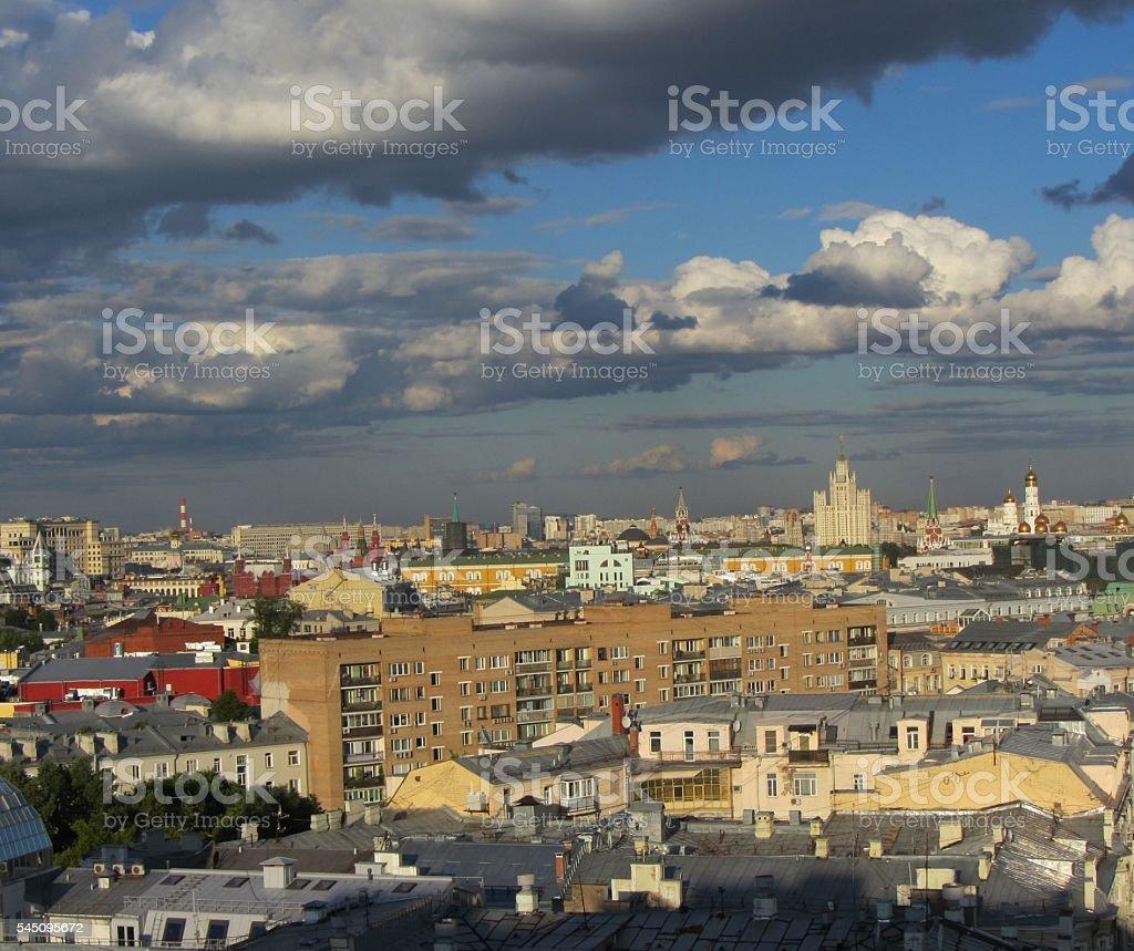 Moscow City stock photo