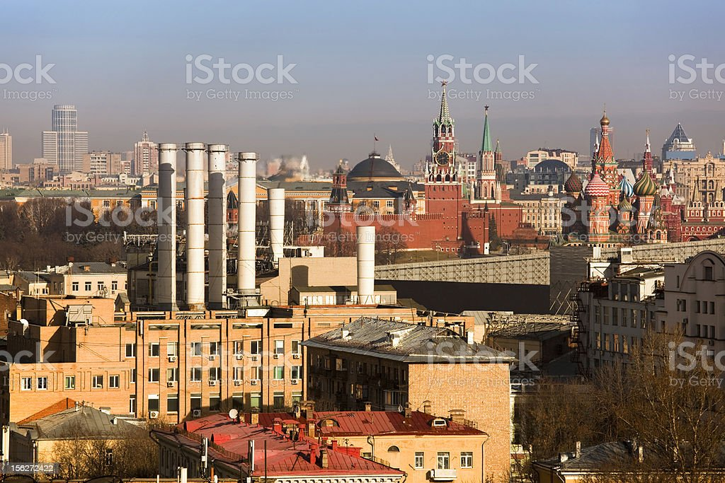 Moscow Cityscape with famous buildings  (XXXL) royalty-free stock photo