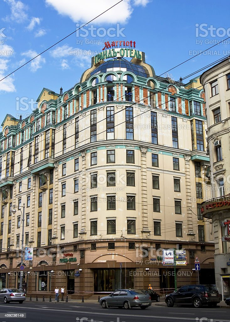 Moscow, grand hotel Marriott stock photo