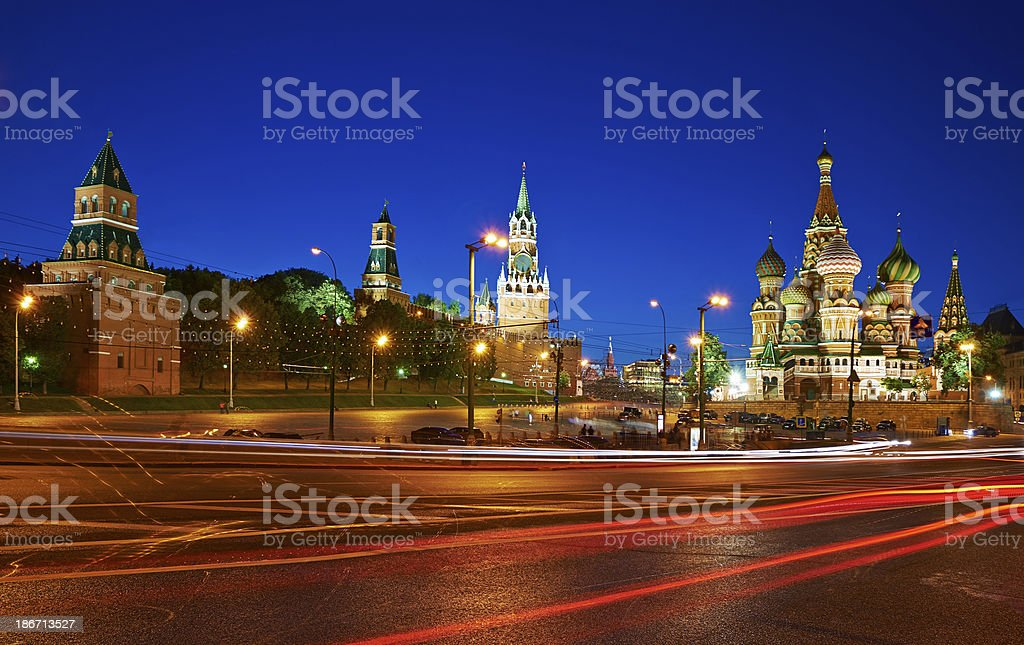 Moscow Kremlim and St. Basil Cathedral. royalty-free stock photo