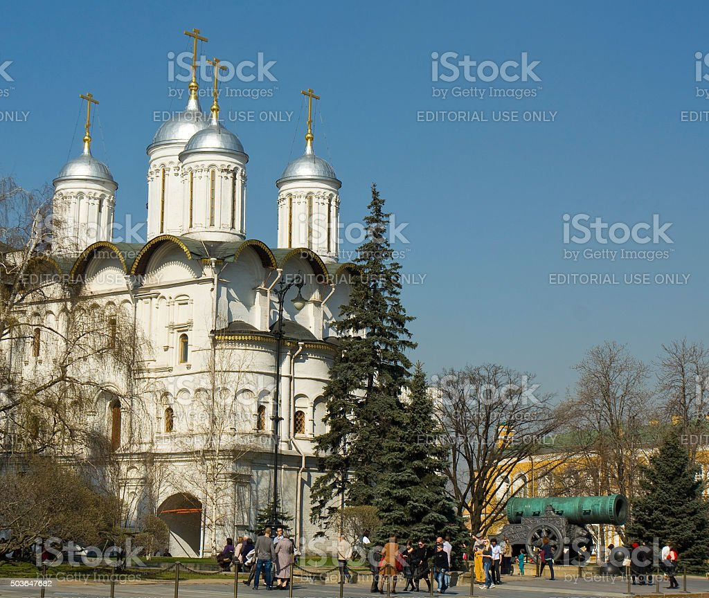 Moscow, Kremlin cathedral stock photo