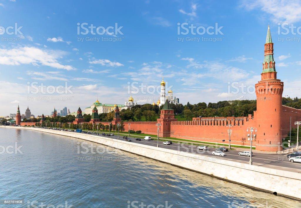 Moscow Kremlin embankment stock photo