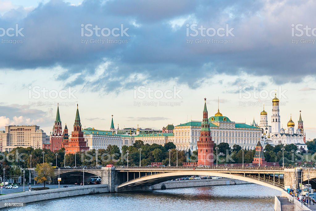 Moscow Kremlin in the heart of Russia stock photo