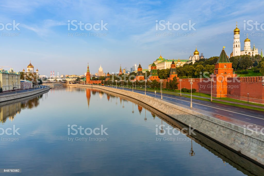 Moscow Kremlin in the morning, Russia stock photo