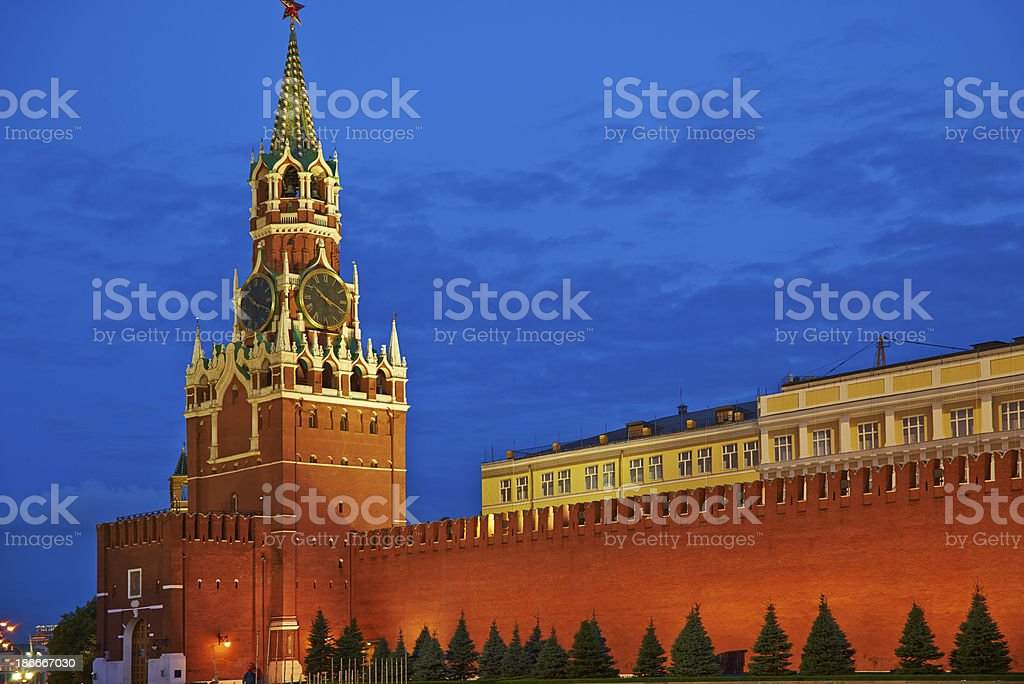 Moscow Kremlin night view. royalty-free stock photo