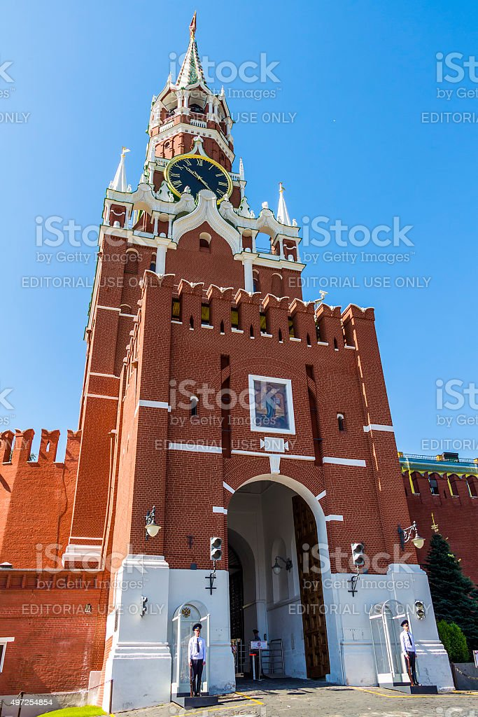 Moscow Kremlin on Red Square stock photo