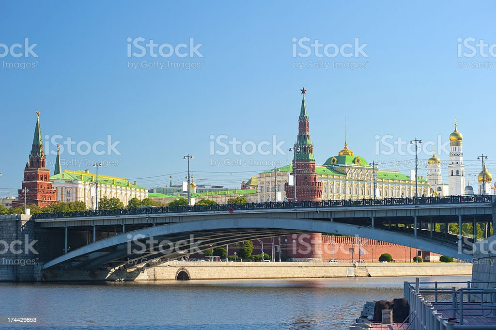 Moscow, Kremlin Palace and Cathedrals royalty-free stock photo