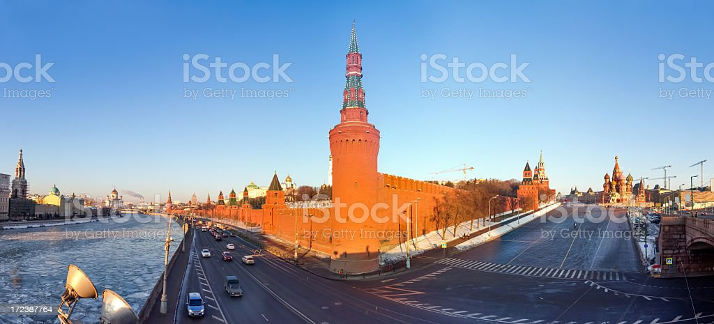 Moscow Kremlin panorama royalty-free stock photo