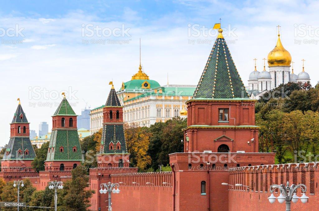 Moscow Kremlin wall stock photo