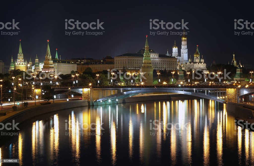 Moscow Lights royalty-free stock photo