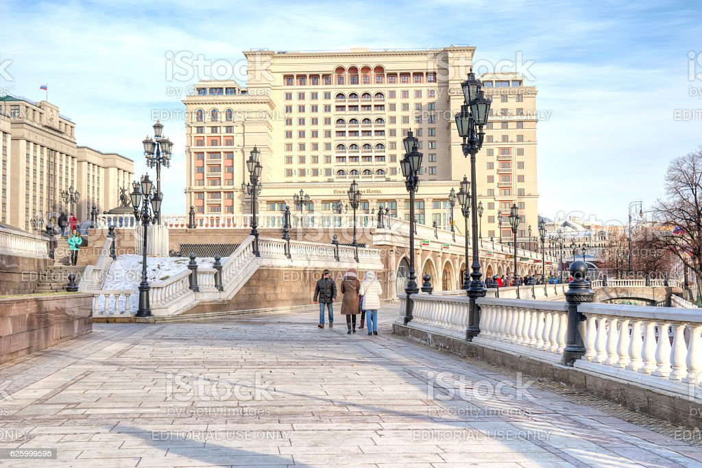 Moscow. Manezhnaya Square stock photo