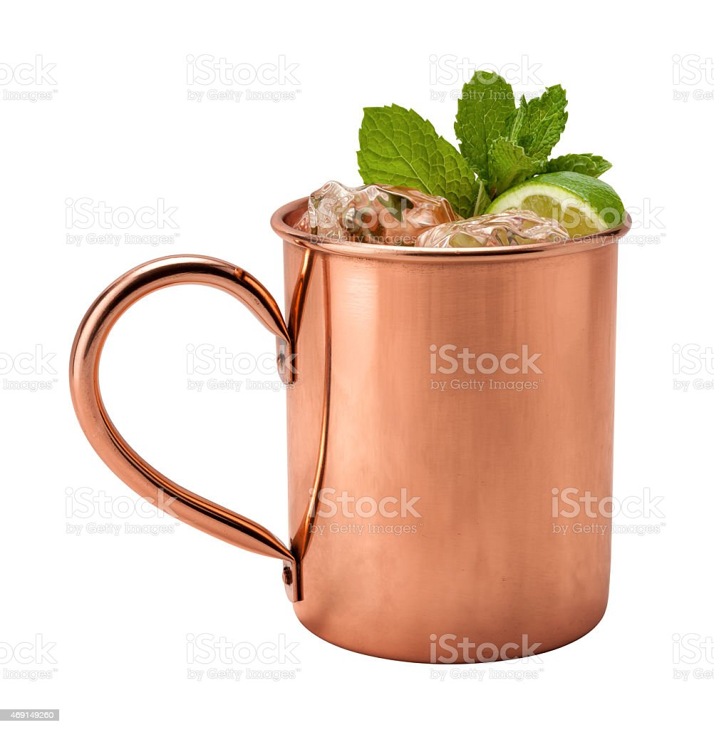 Moscow Mule in a Copper Mug stock photo