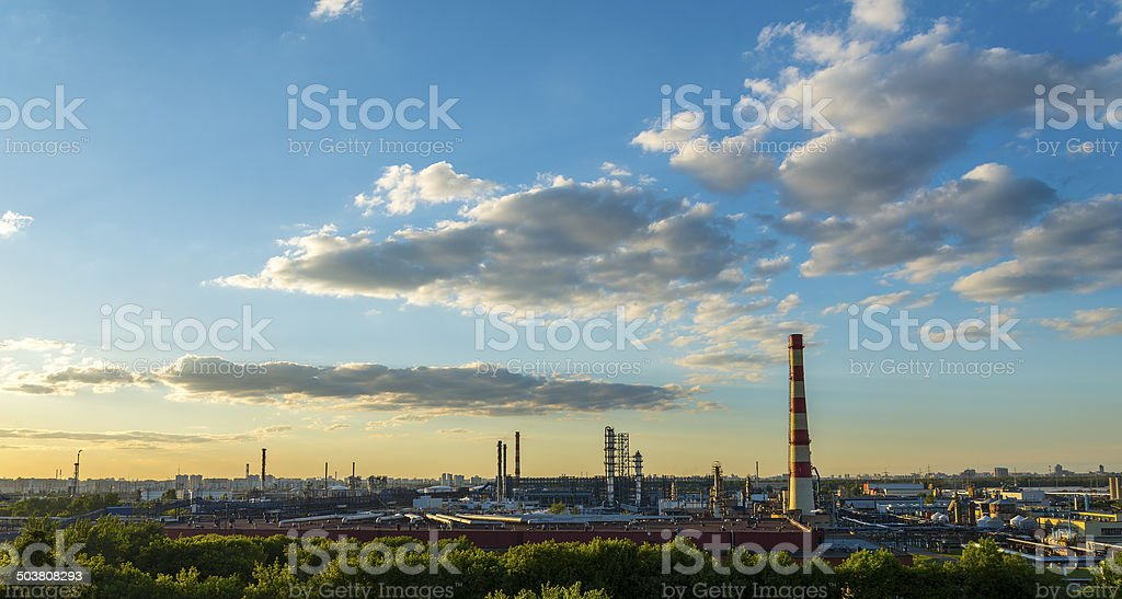 Moscow Oil processing plant royalty-free stock photo