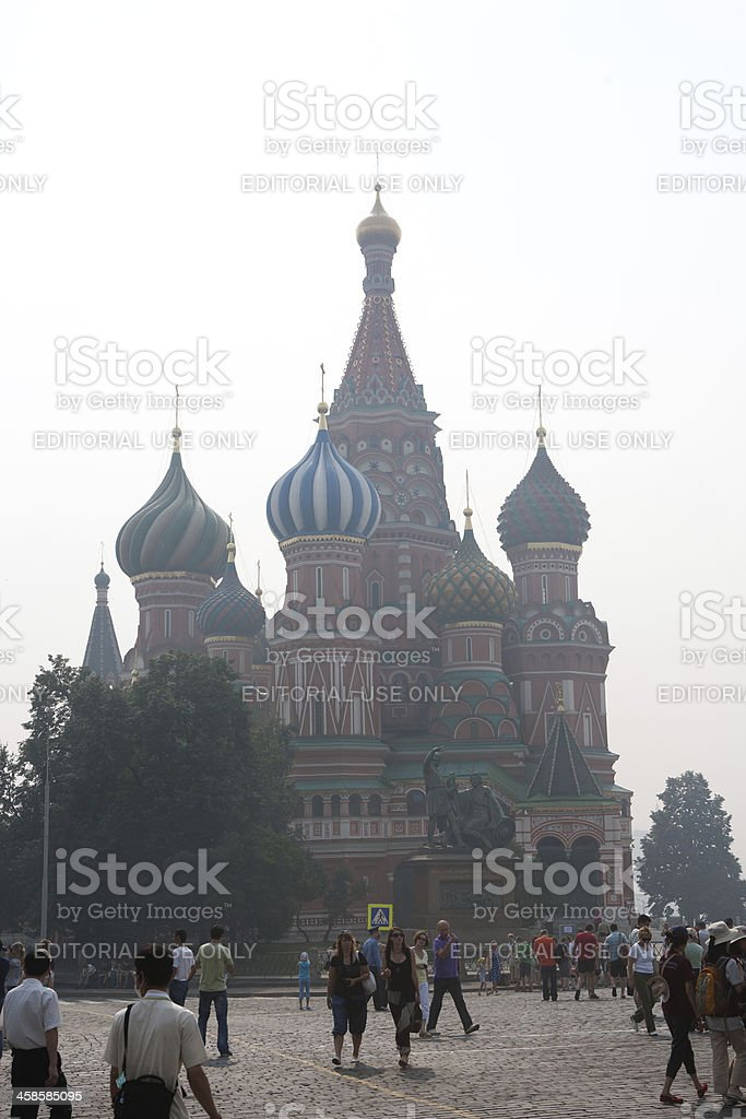 Moscow Red Square and Kremlin - St. Basil's Cathedral royalty-free stock photo