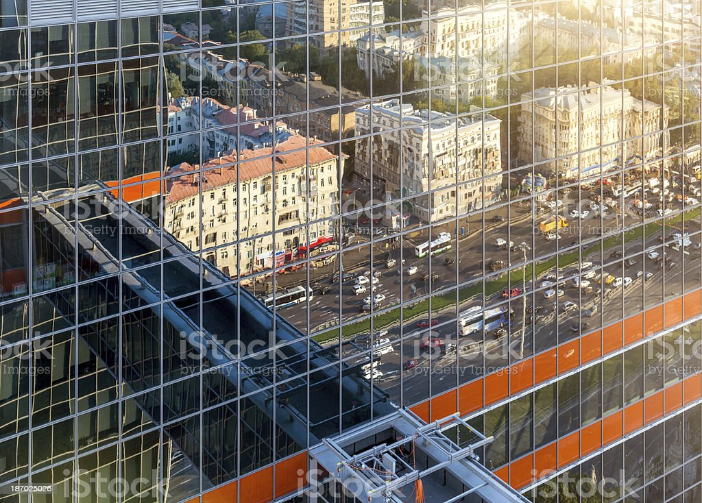 Moscow reflection royalty-free stock photo