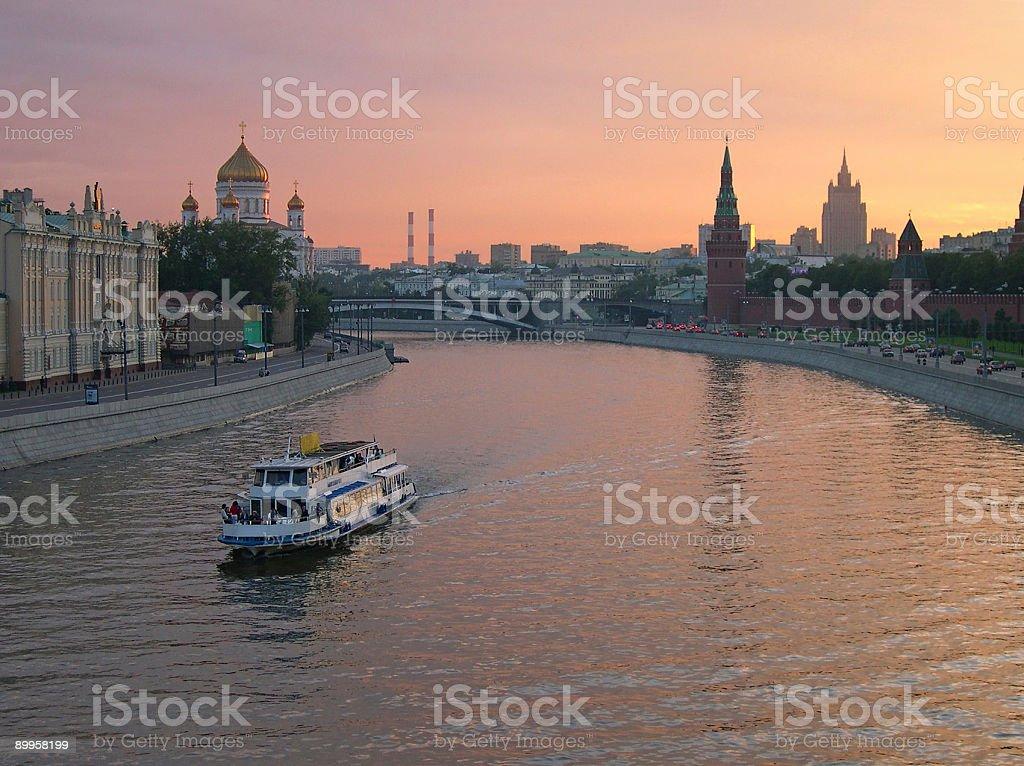 moscow river kremlin royalty-free stock photo