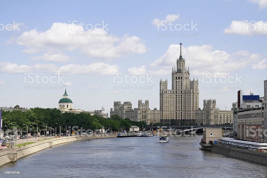 Moscow river royalty-free stock photo