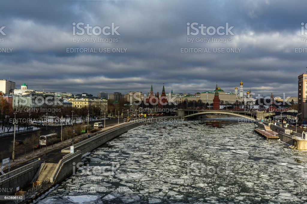 Moscow river stock photo