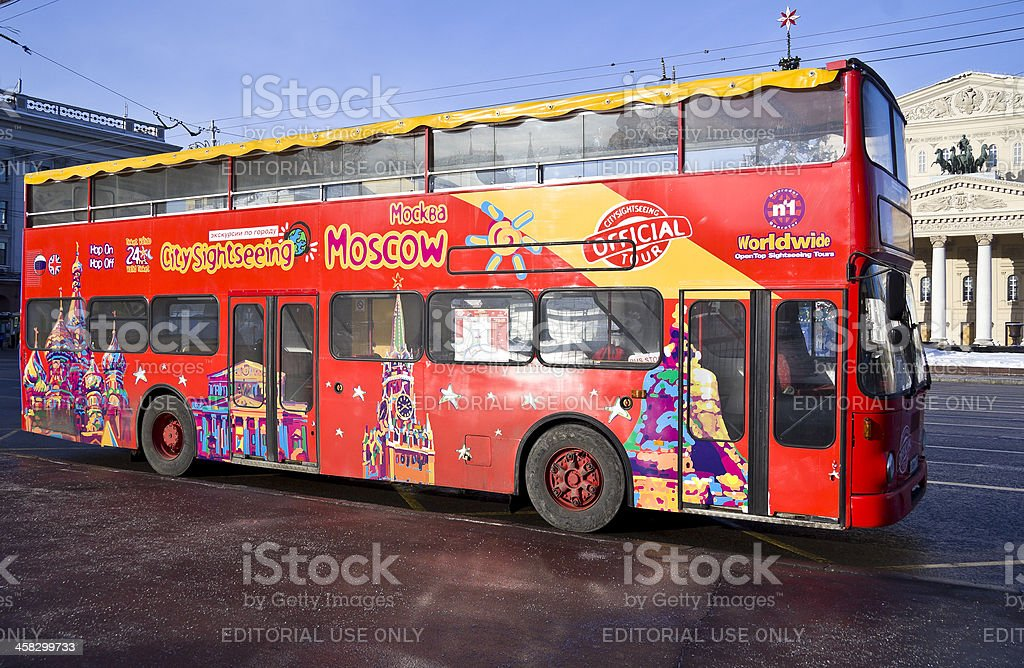 Moscow sightseeing bus royalty-free stock photo