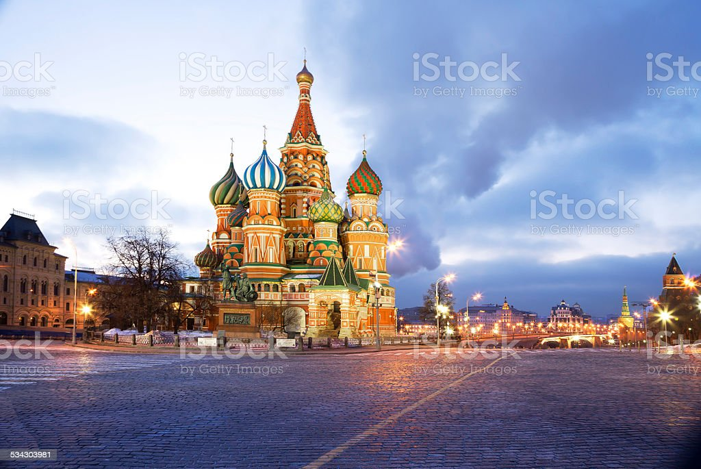Moscow. St. Basil's Cathedral. stock photo