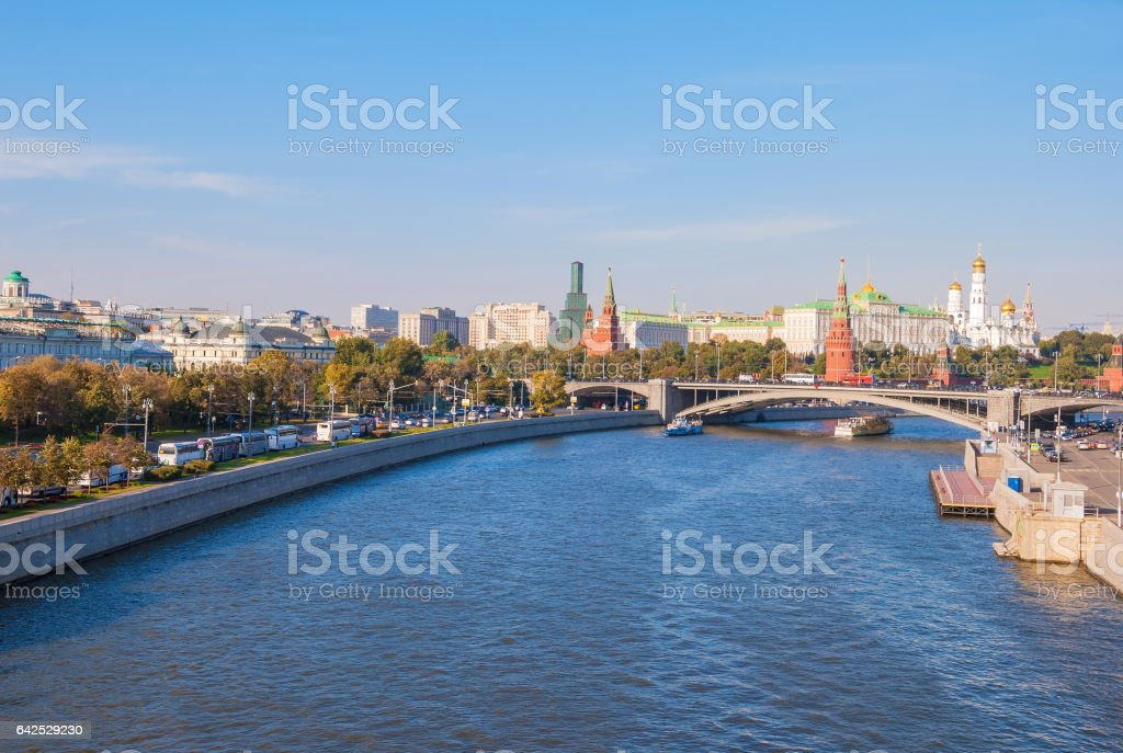 Moscow. The Moscow River stock photo