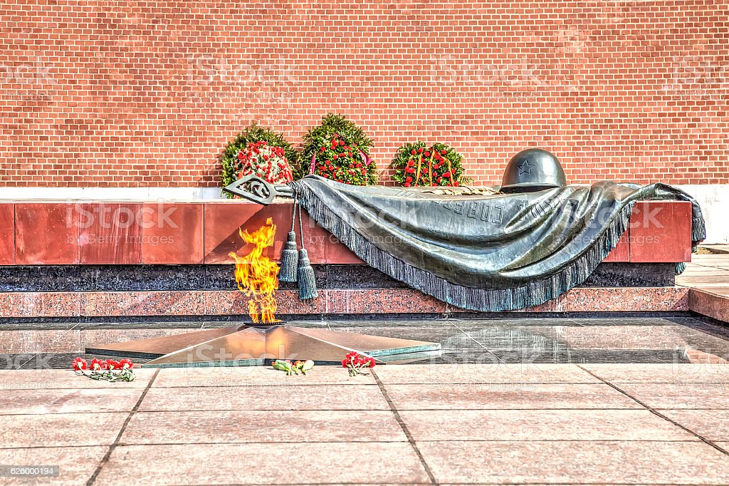 Moscow. Tomb of the Unknown Soldier stock photo