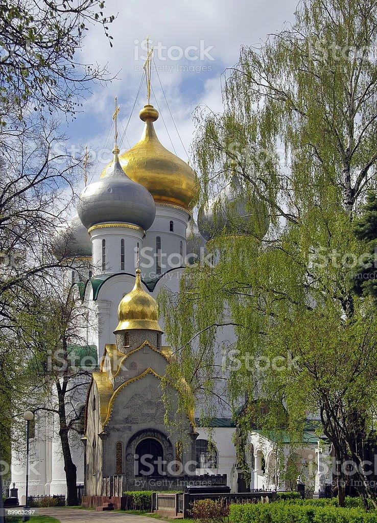 Moscow.Spring in  Novodevichij Monastyr royalty-free stock photo