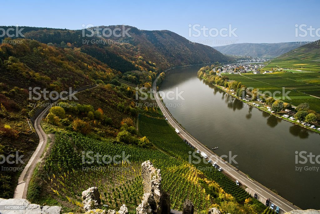 mosel river germany royalty-free stock photo