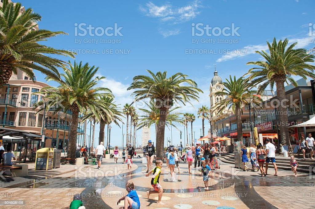 Moseley Square, Glenelg stock photo