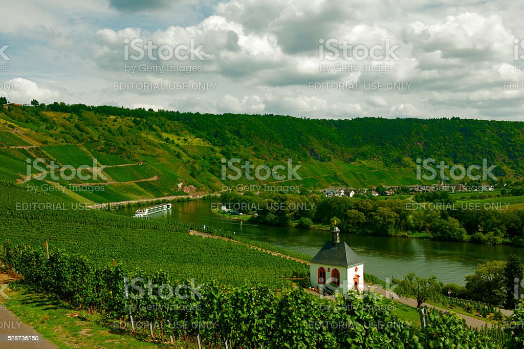 Moselle countryside stock photo