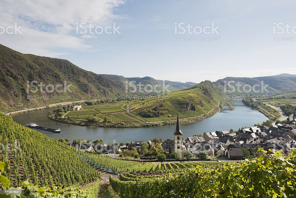 Moselle loop , Moselschleife, Bremm, Cochem , Germany stock photo