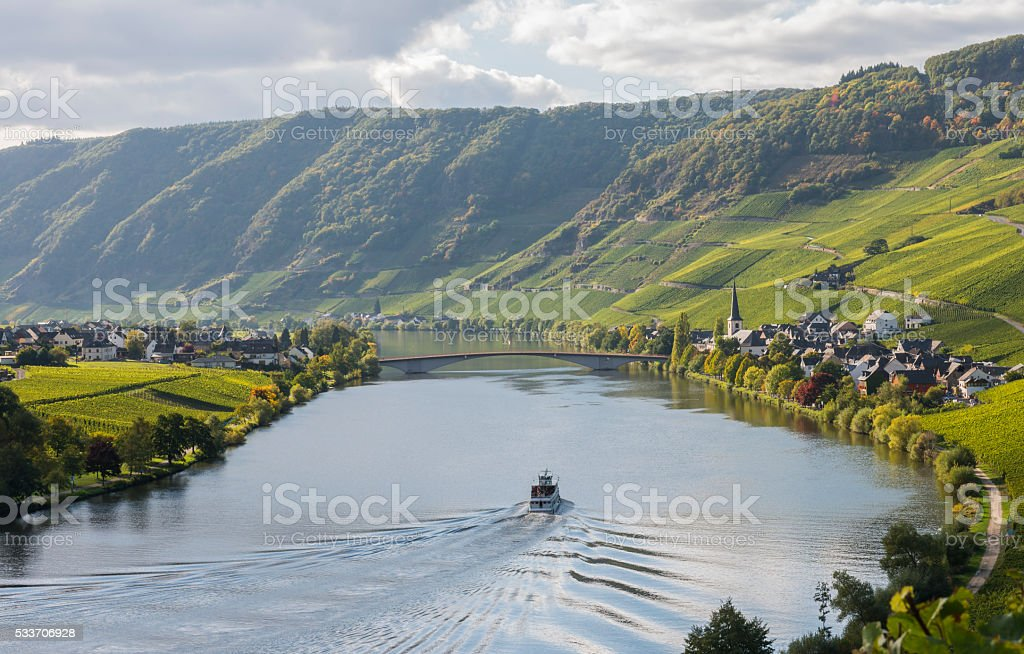 Moselle near Piesporter stock photo