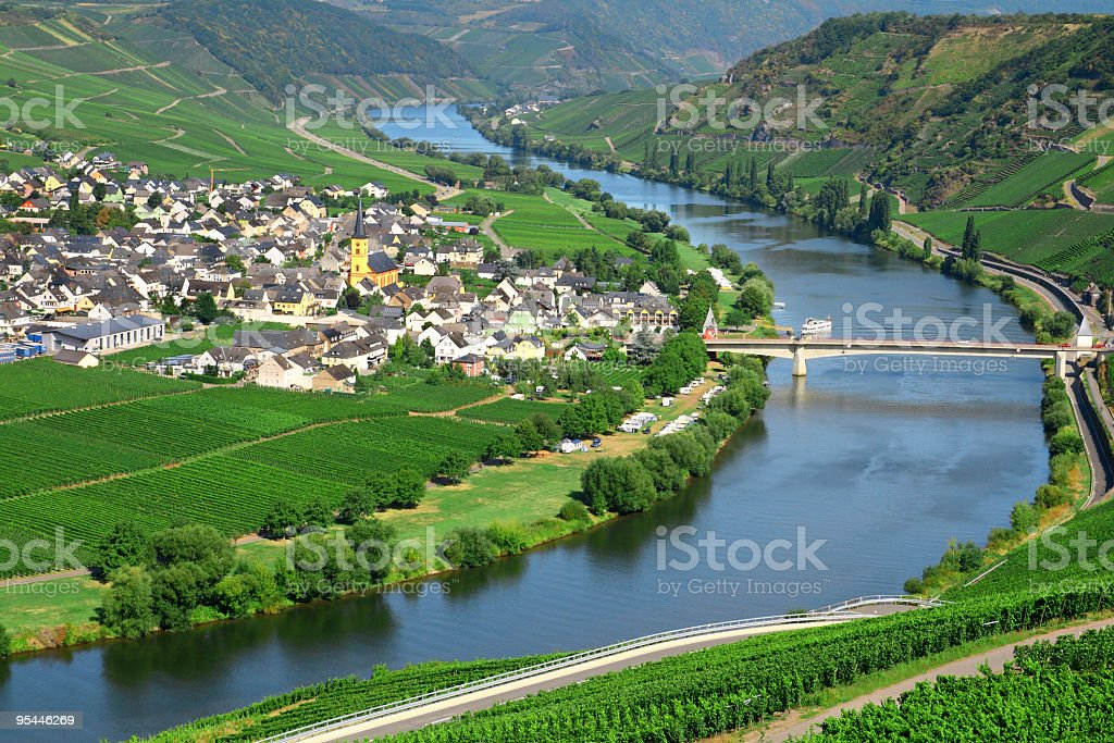 River Mosel stock photo