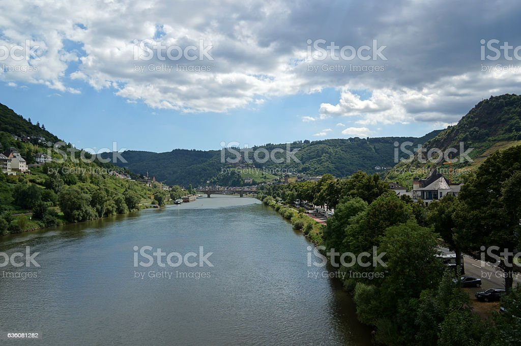 Moselle River with Cochem stock photo