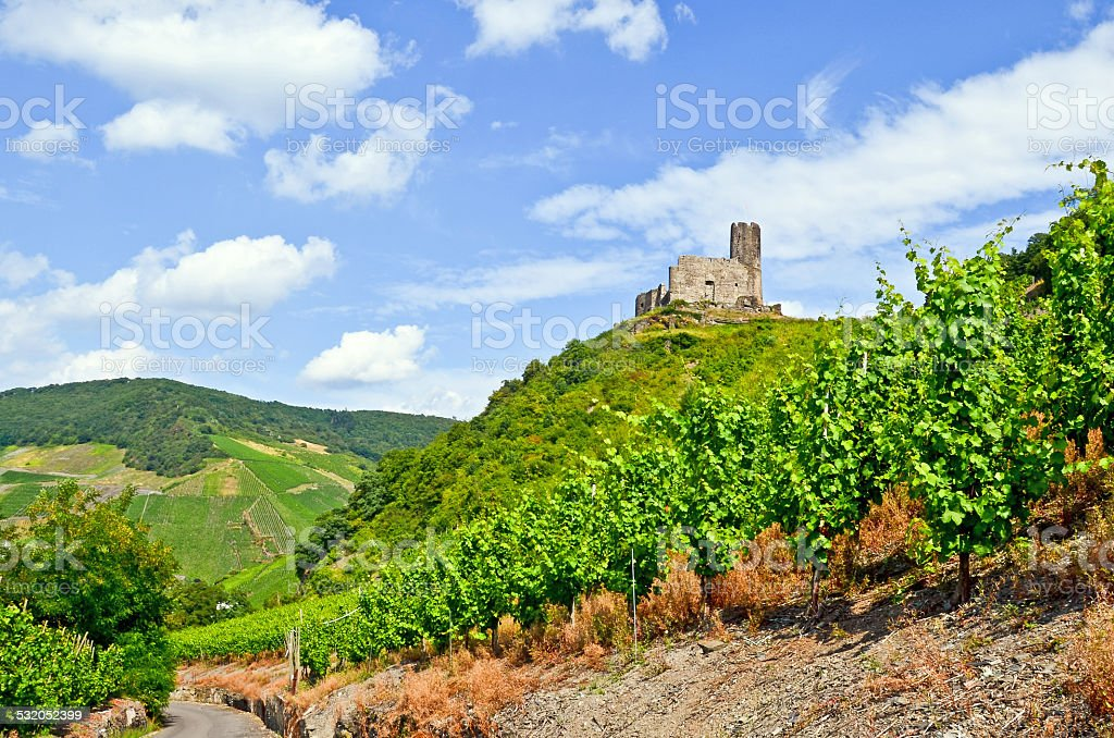 Moselle Valley Germany: Landshut Castle near Bernkastel Kues stock photo