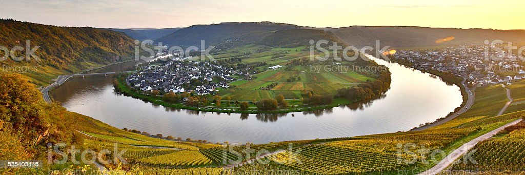 Moselschleife stock photo