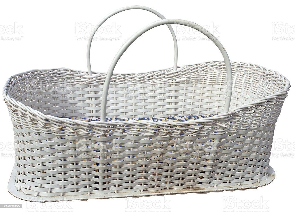 Moses Basket stock photo