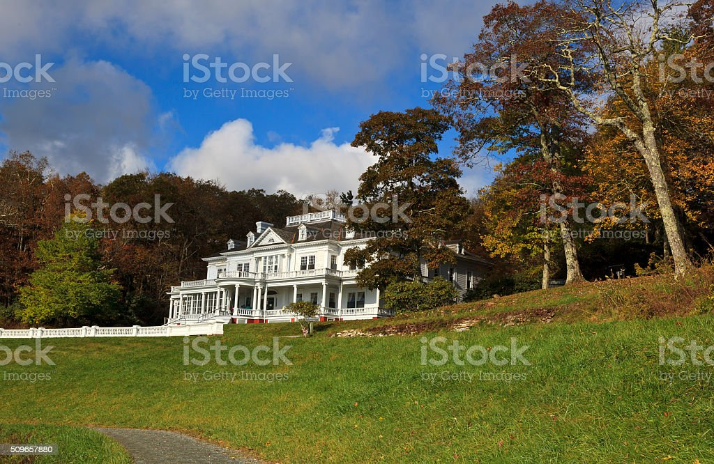 Moses Cone Flat Top Manor stock photo