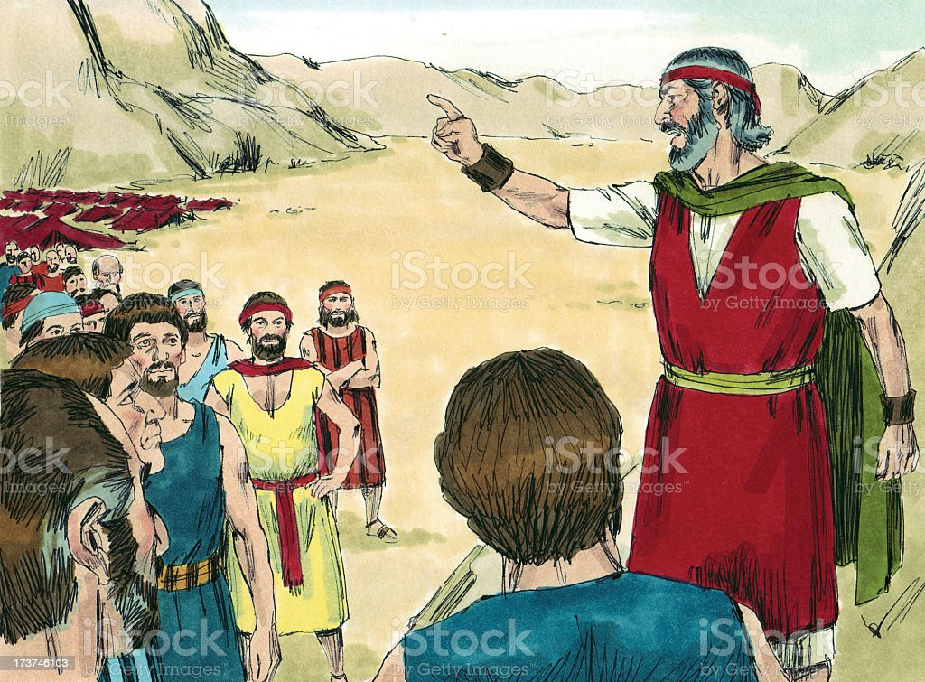 Moses Shares Word from God stock photo