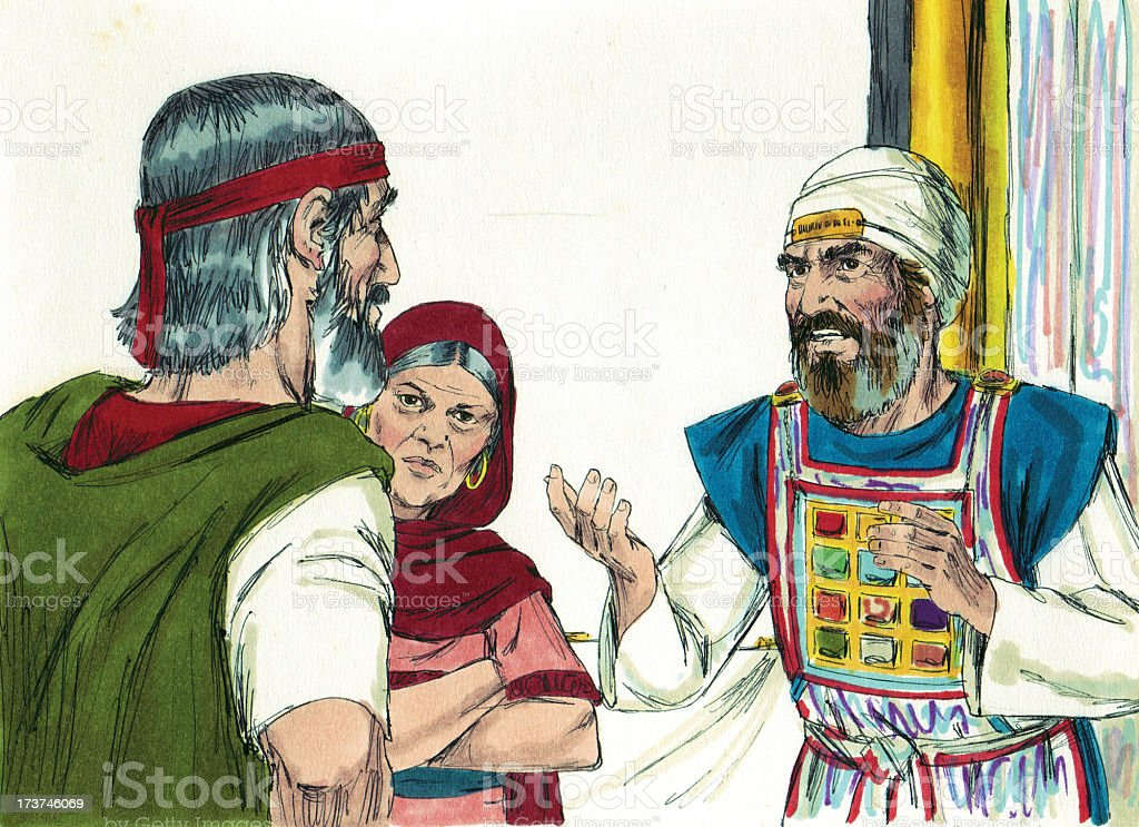 Moses Talks with High Priest stock photo