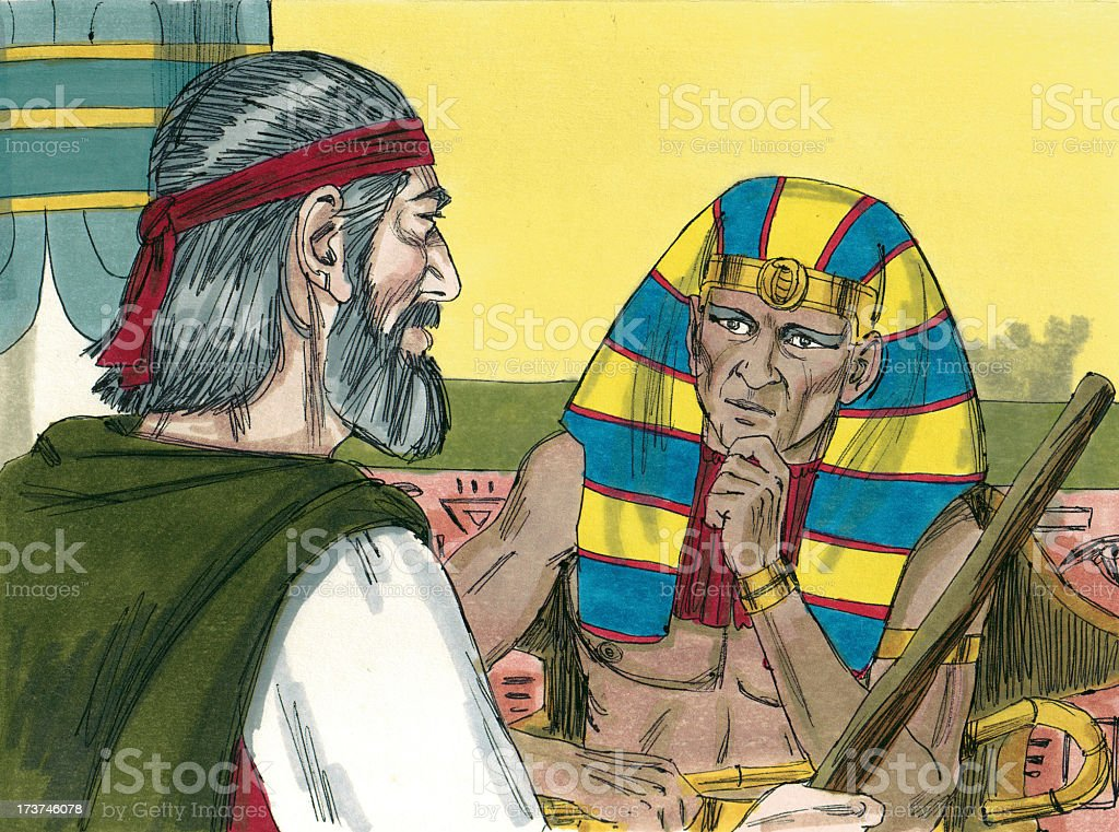 Moses Tells Pharaoh Let Israelites Go stock photo