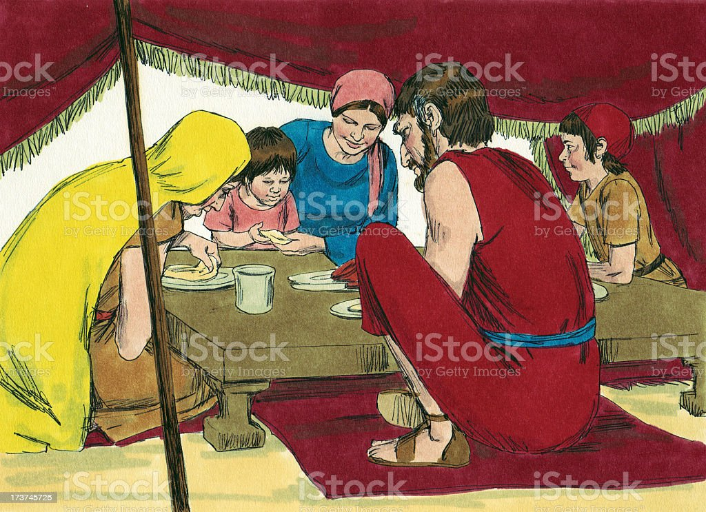 Moses--Israelite Family stock photo